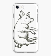 Falling Pig: When Pigs Fly iPhone Case/Skin