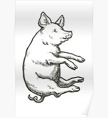 Falling Pig: When Pigs Fly Poster