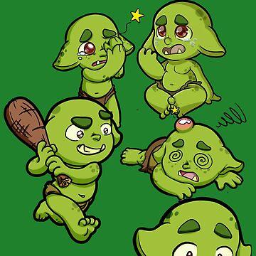 Baby Orcs - Bad Behavior by EmeraldDice