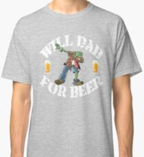 Dabbing Zombie Collection Funny Halloween Costume Dabbing For Beer Classic T-Shirt
