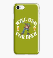Funny Halloween Dabbing Zombie Beer Lovers Costume Collection Dabbing For Beer iPhone Case/Skin
