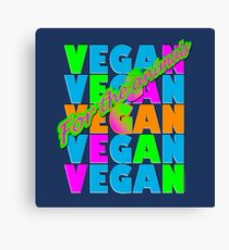 VEGAN CRISS-CROSS. Canvas Print
