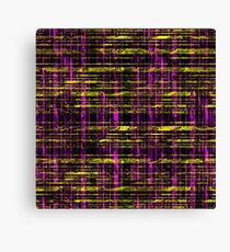 Pattern #57 - Pink and Yellow On Black Canvas Print