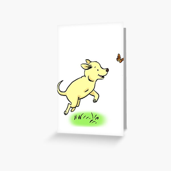 Tripod Dog, Three Legged Dog Playing Greeting Card