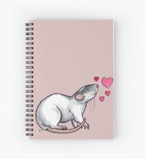 Dumbo pet rat love Spiral Notebook