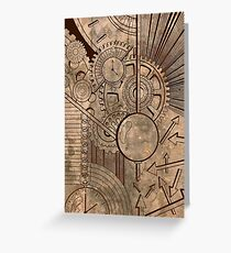 clockwork Greeting Card