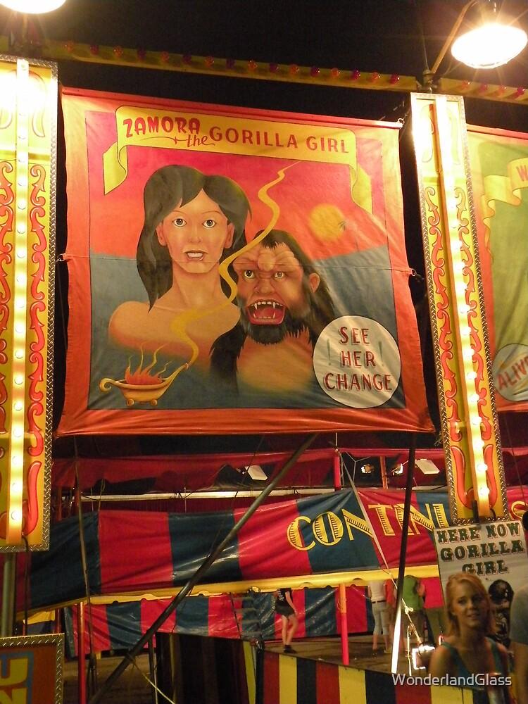 Zamora the gorilla girl... see her change by WonderlandGlass