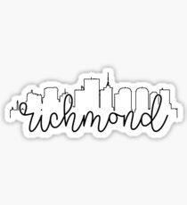 cityscape outline - richmond Sticker