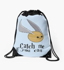Catch me if you can!  Drawstring Bag