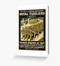 Vintage poster - British Military Greeting Card