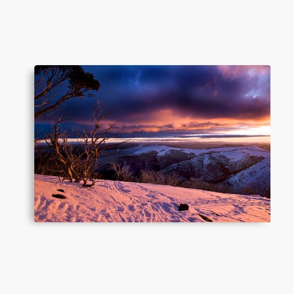 Mauve Mountains Canvas Print