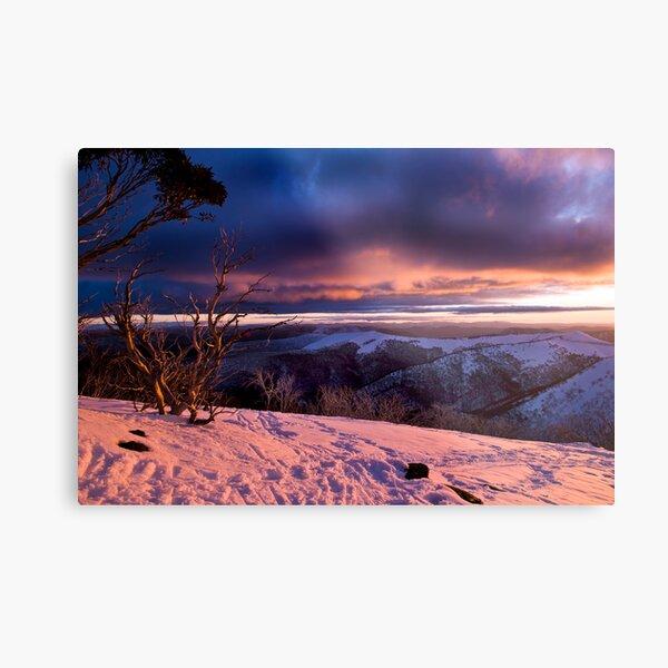 Mauve Mountains Metal Print