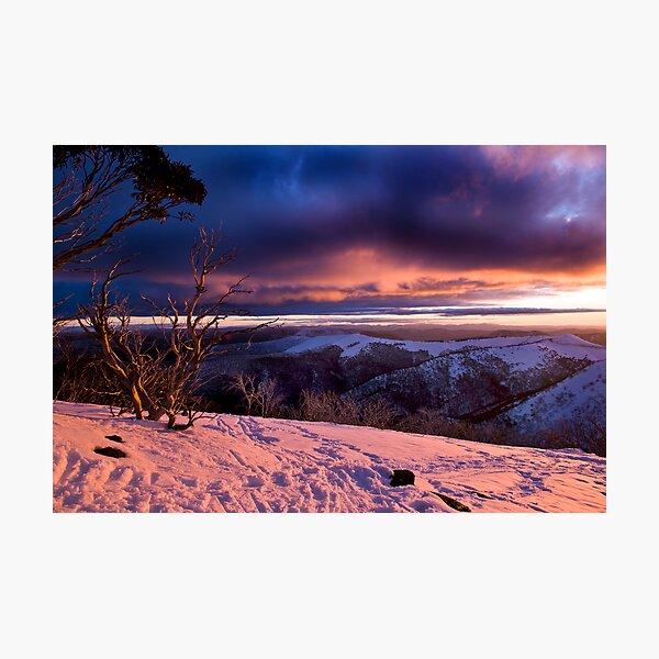 Mauve Mountains Photographic Print