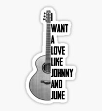 Johnny and June Sticker