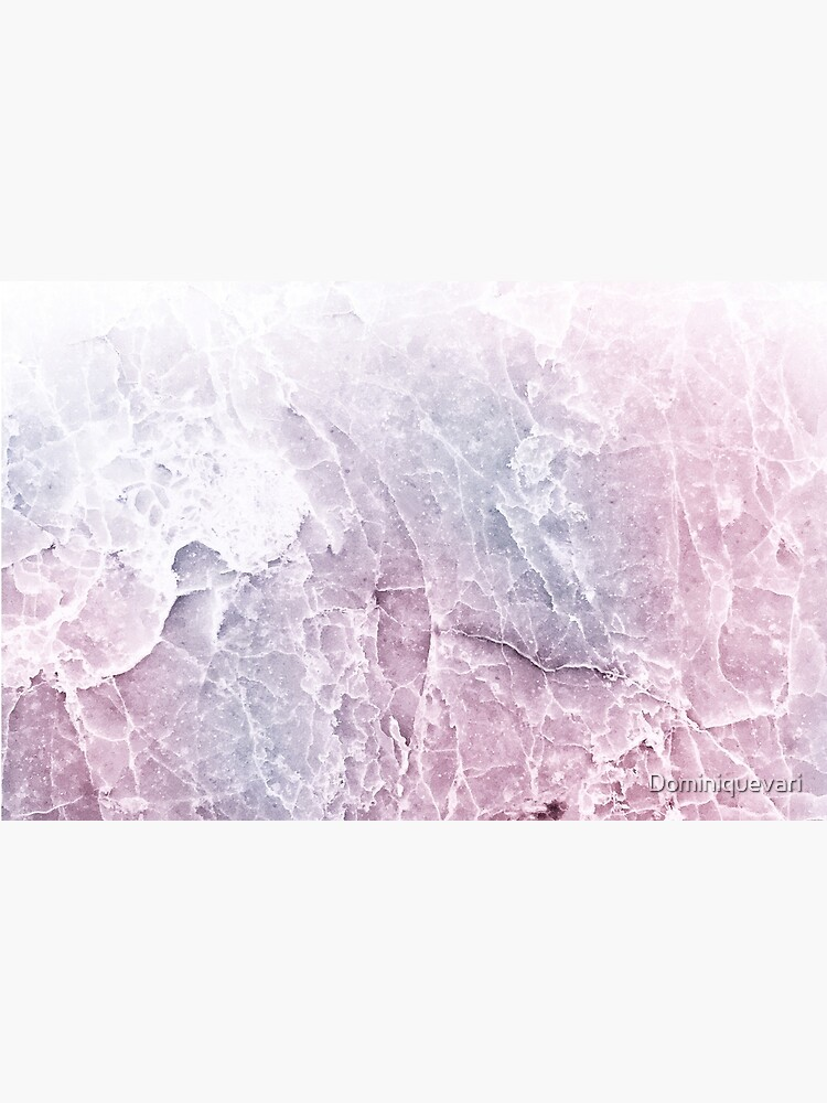 Sea Dream Marble - Rose and White by Dominiquevari