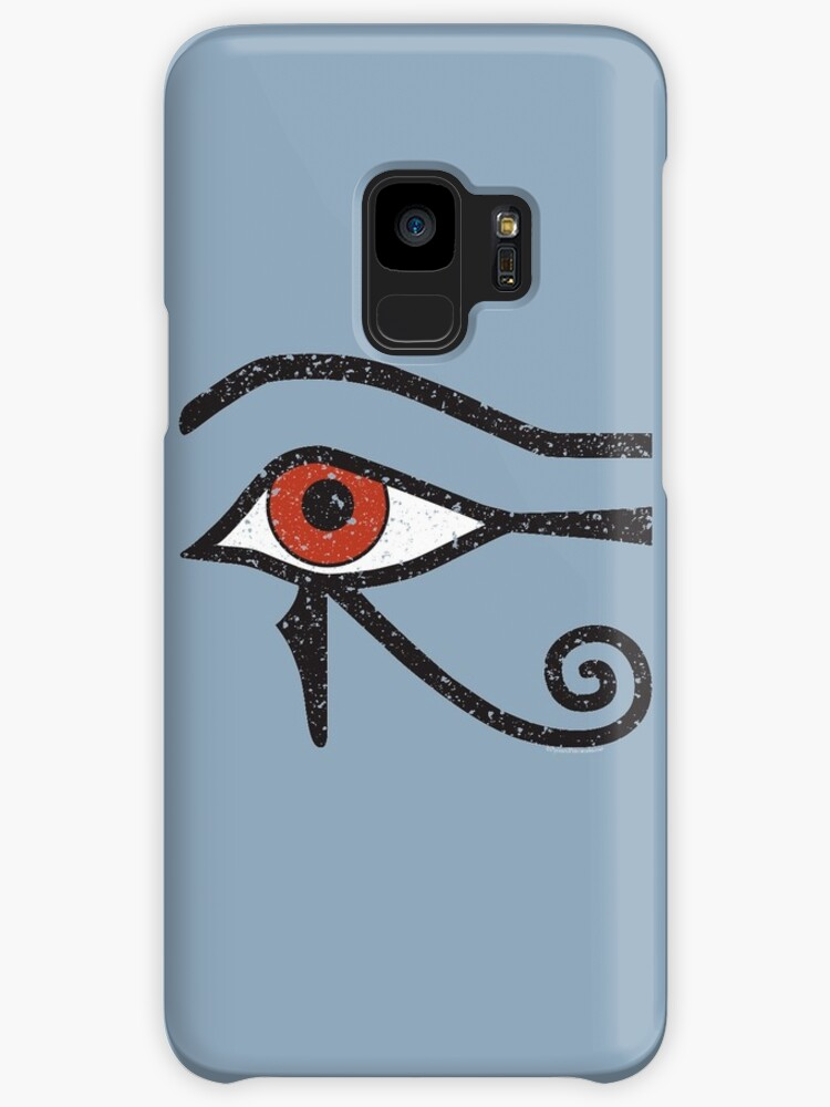 Eye Of Horus Ancient Egyptian Symbol Of Protection On Blue Cases