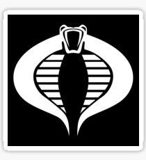 COBRA Insignia (white) Sticker