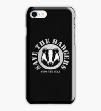 Save the Badgers - black iPhone Case/Skin