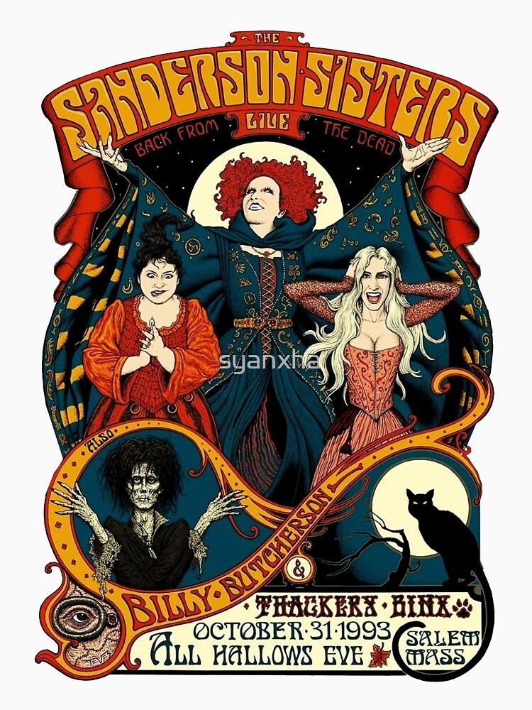 Sanderson-Schwestern - Reise-Plakat von syanxha