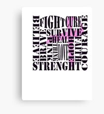Breast Cancer Words Canvas Print