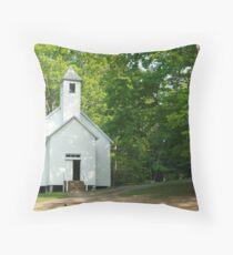 Church on a Hill Throw Pillow