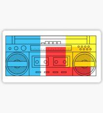 primary colour boombox Sticker