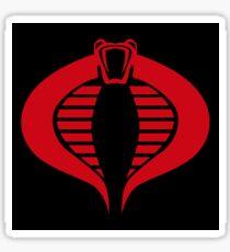 COBRA Insignia (red) Sticker