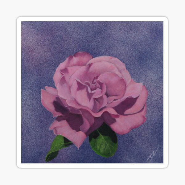 Floating Rose Sticker