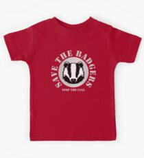 Save the Badgers - red Kids Tee