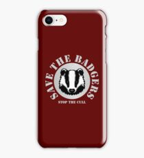 Save the Badgers - red iPhone Case/Skin