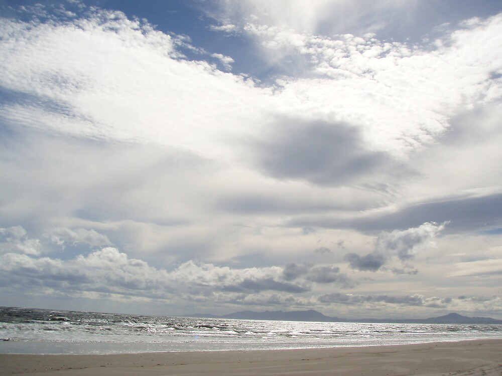 Spectacular sky at Ocean Beach, Strahan, Tasmania, today by gaylene