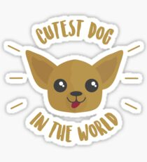 Cutest Dog In The World - Chihuahuas, Chihuahua Life, Dog Lover, Pets Sticker