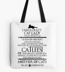 Mother Of Cats. Catleesi Funny Cat Lovers Gift for Women Tote Bag