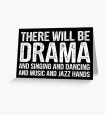 Tarjeta de felicitación habrá teatro teatro