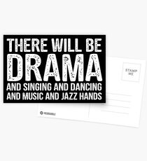 there will be drama - theatre Postcards