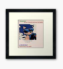 Sonic Love is for Nerds Framed Print