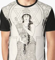 HD The Queen of Sabbath; ,by Ephraim Moses Lilien (1900) Graphic T-Shirt