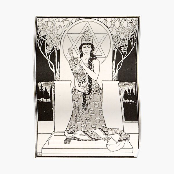 HD The Queen of Sabbath; ,by Ephraim Moses Lilien (1900) Poster