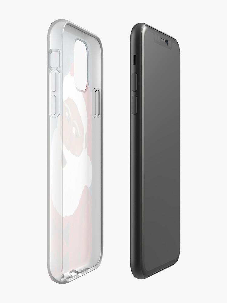 louis vuitton coque de iphone 7 aliexpress - Coque iPhone «Père Noël - Noir - Vacances 2017», par ashleycocoreedy
