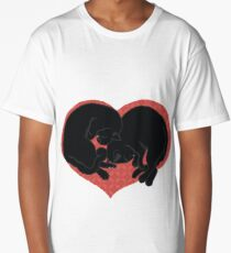 FOR THE LOVE OF BLACK CATS Long T-Shirt