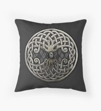 Yggdrasil Celtic Viking World Tree of Life Throw Pillow