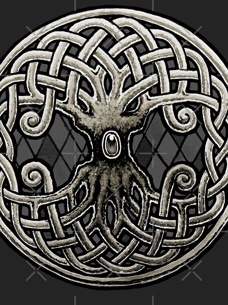 Yggdrasil Celtic Viking Árbol de la vida mundial de RobertoJL
