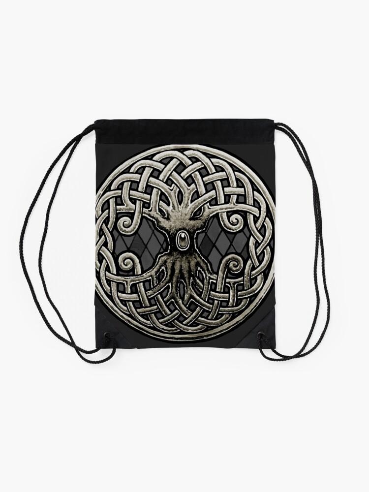 Vista alternativa de Mochila saco Yggdrasil Celtic Viking Árbol de la vida mundial