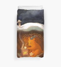 Snowy Rooftops Duvet Cover