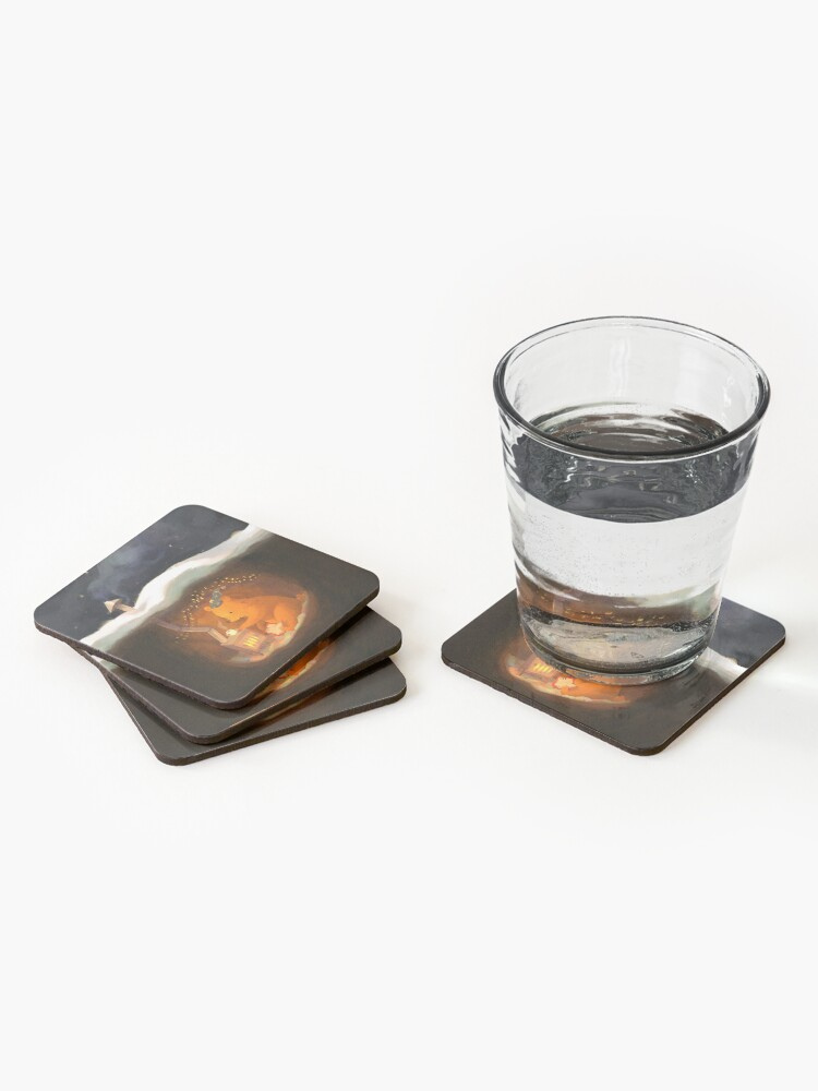 Alternate view of Snowy Rooftops Coasters (Set of 4)