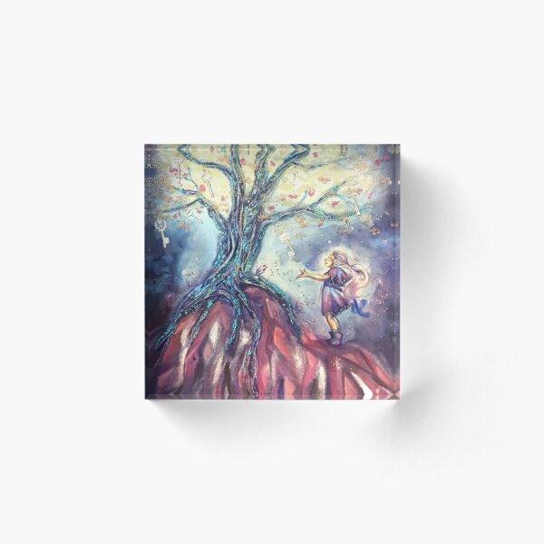 The Tree of Keys Acrylic Block