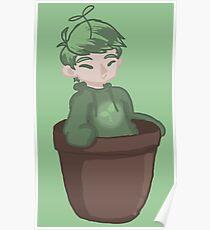 Plant boy in flower pot Poster