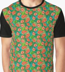 Beautiful Tropical Flower Patterns Graphic T-Shirt