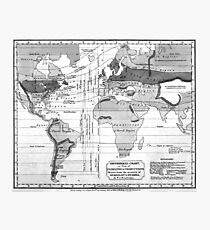 Black and White World Map (1823) Photographic Print