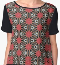 Poinsettia Fields  Women's Chiffon Top